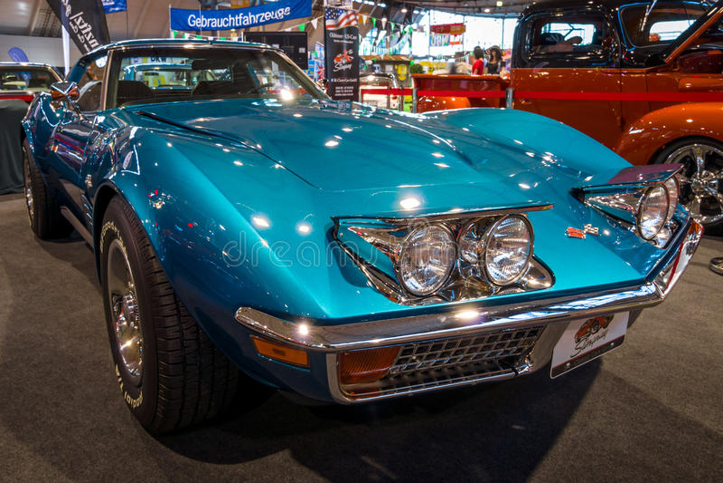 Arraia-lixa C3 de Chevrolet Corvette do carro de esportes, 1972 fotos de stock royalty free