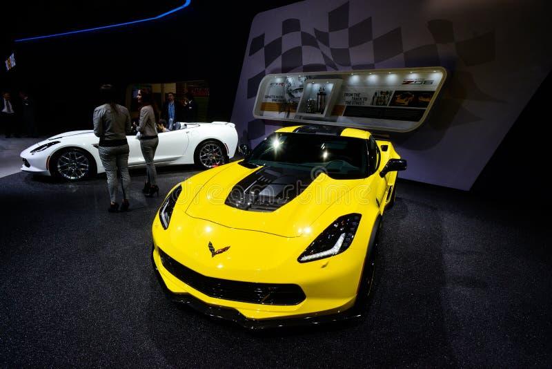 Arraia-lixa de Chevrolet Corvette C7 fotos de stock