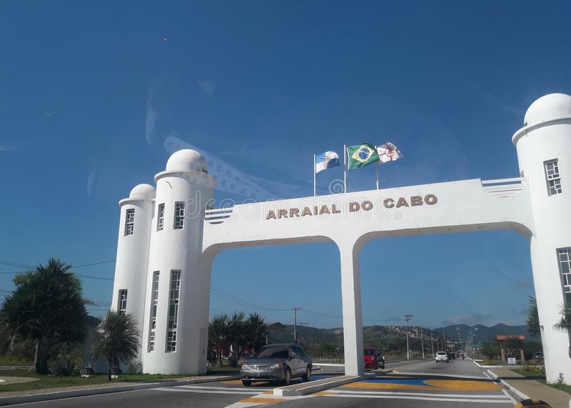 Arraial do Cabo - μέρος Ρίο ντε Τζανέιρο της πόλης στοκ φωτογραφία