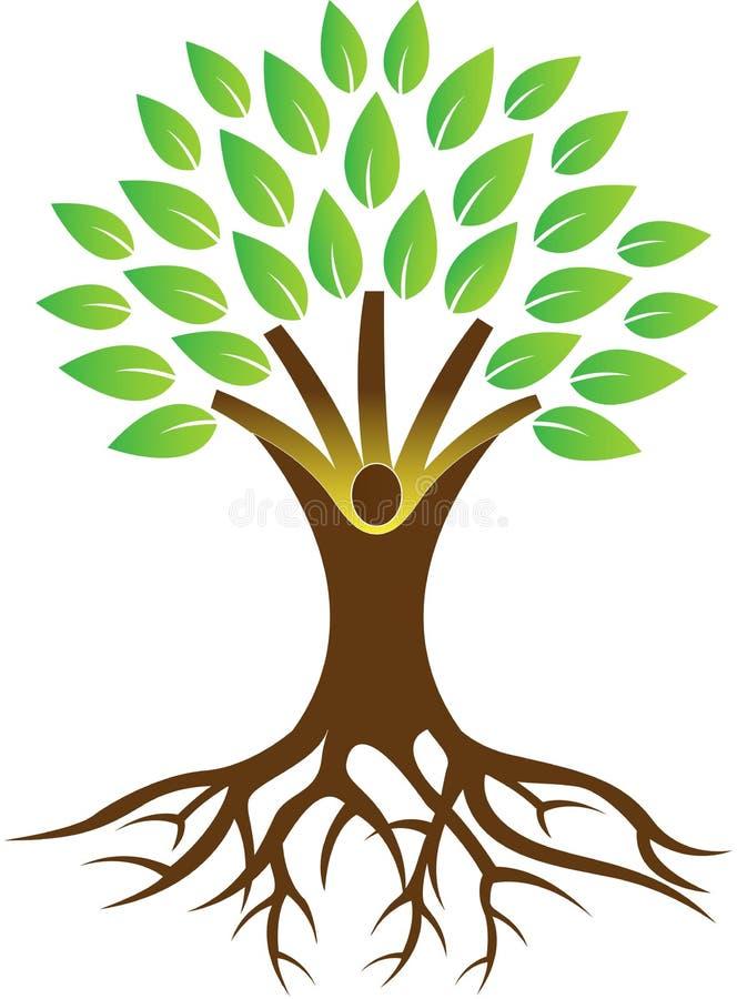 Arraigue el árbol ilustración del vector