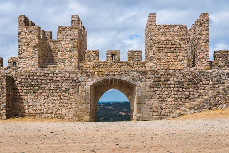 Arraiolos城堡  免版税库存照片
