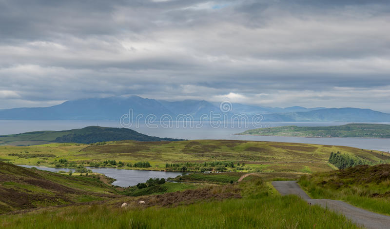 Arran from Fairlie Moor royalty free stock photo