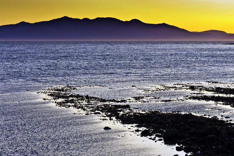Download Arran Sunset From Saltcoats Royalty Free Stock Images - Image: 10527189