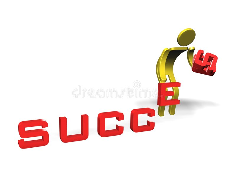 Download Arrange Your Own Success stock illustration. Image of work - 6247149