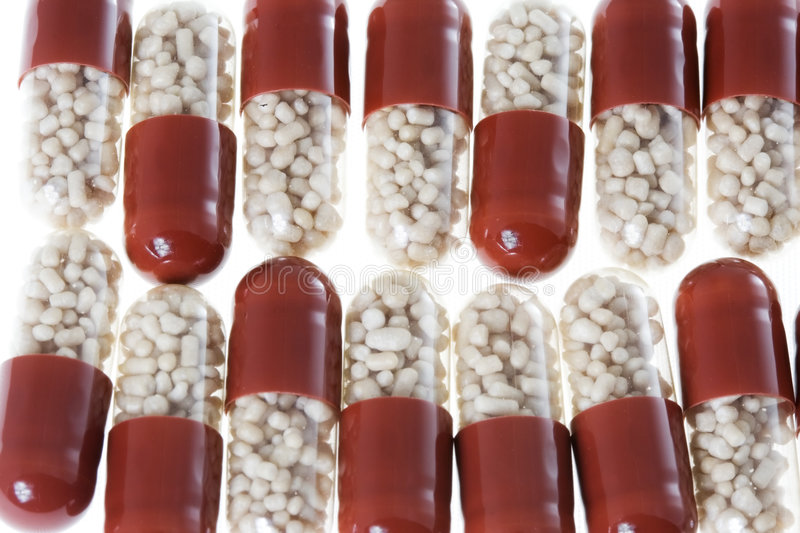 Arranged pills 2 royalty free stock photography