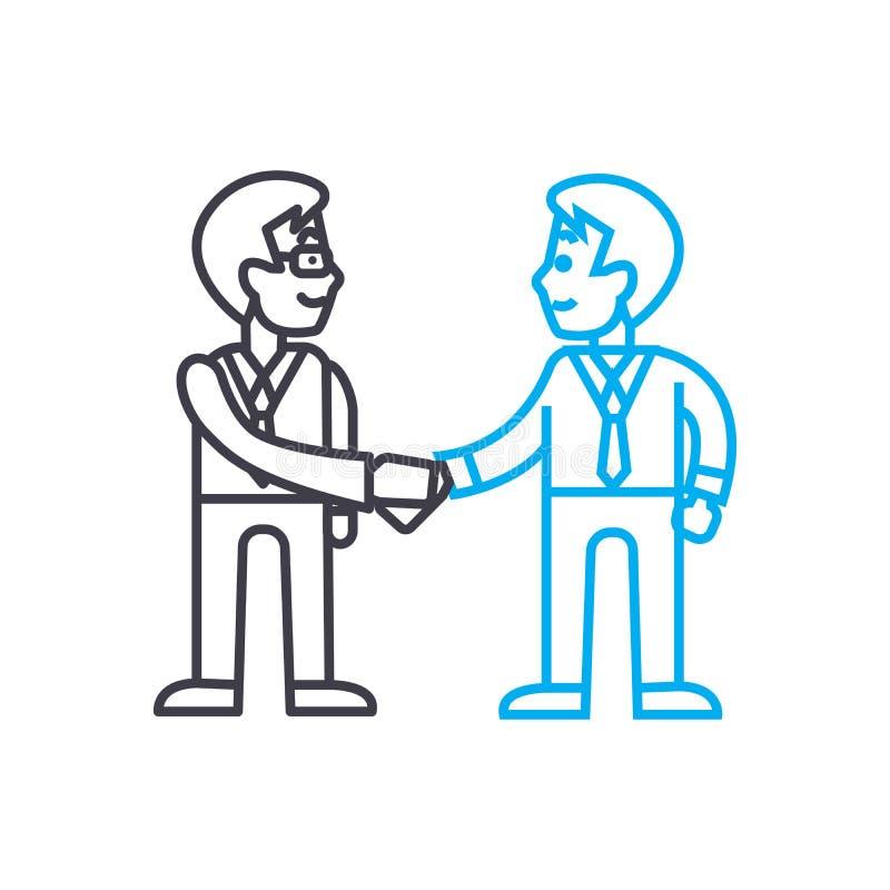 Arrangement of agreement linear icon concept. Arrangement of agreement line vector sign, symbol, illustration. stock illustration