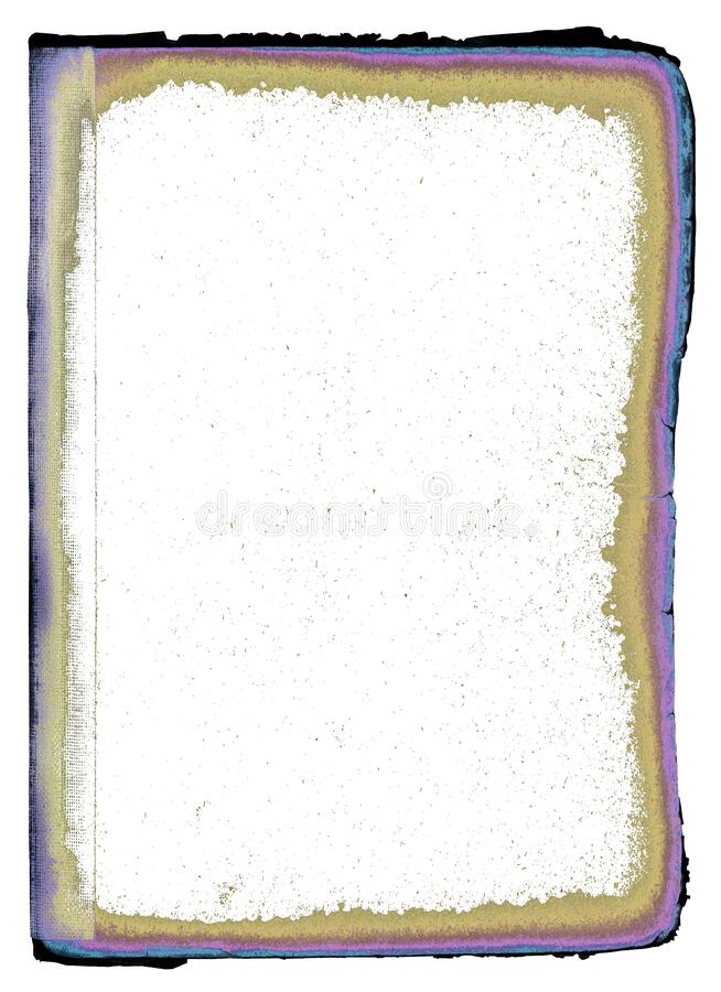 Grungy page from an old book royalty free stock photography