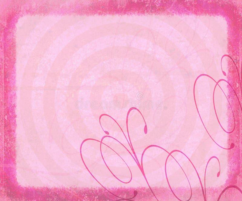 Girly Grunge Background with Flourish royalty free stock images