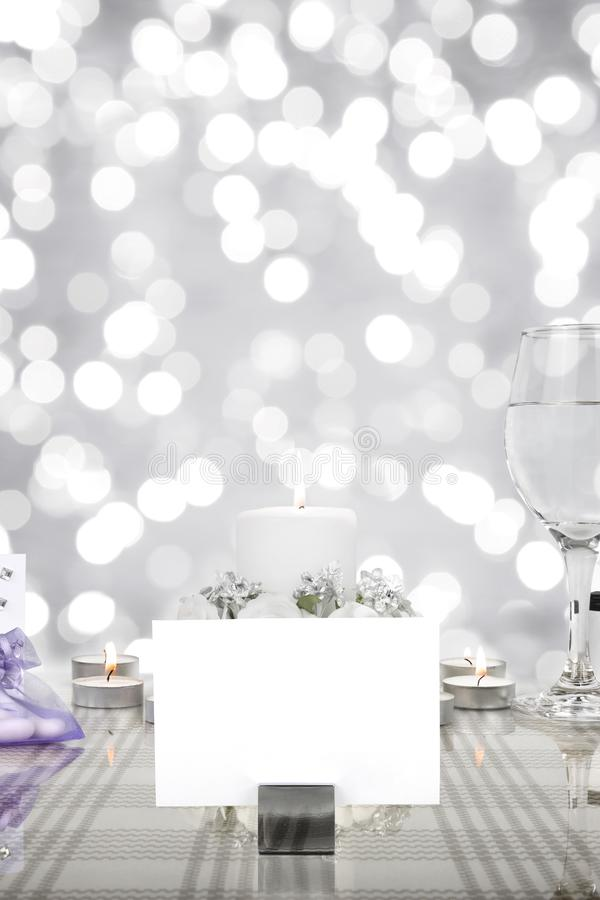 Arrangement de table de dîner de mariage images libres de droits
