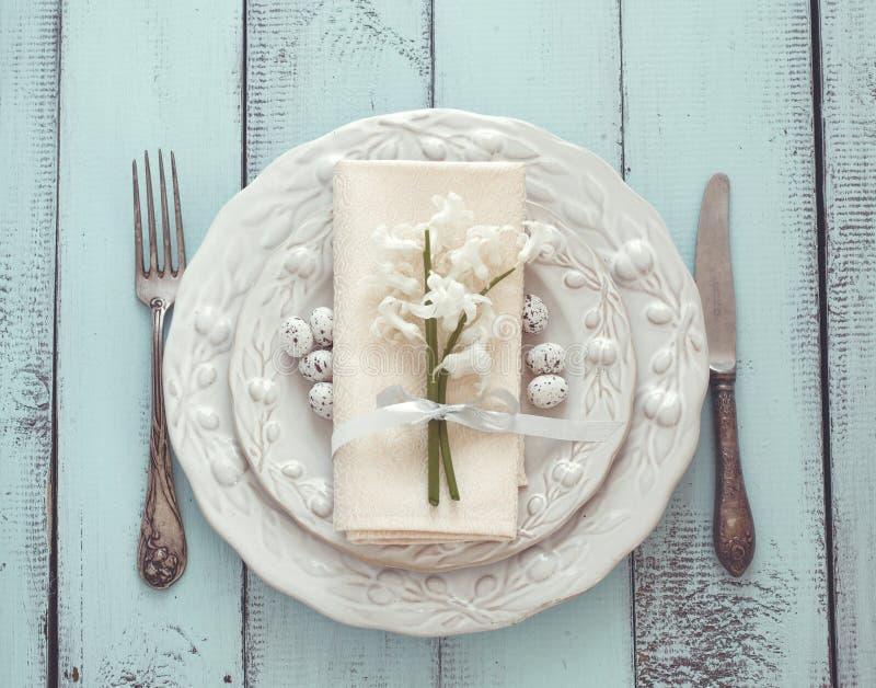 Arrangement de table de Pâques image libre de droits