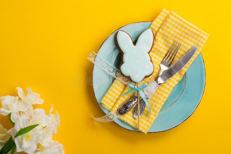 Arrangement de table de Pâques photo libre de droits
