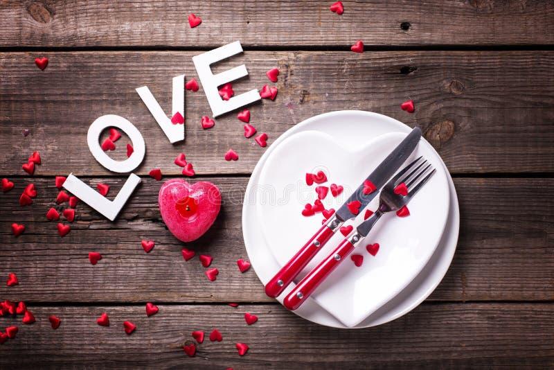 Arrangement de table de St Valentine Day photos stock