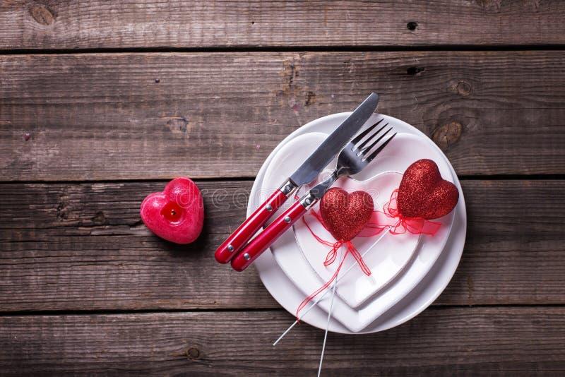 Arrangement de table de St Valentine Day photo libre de droits