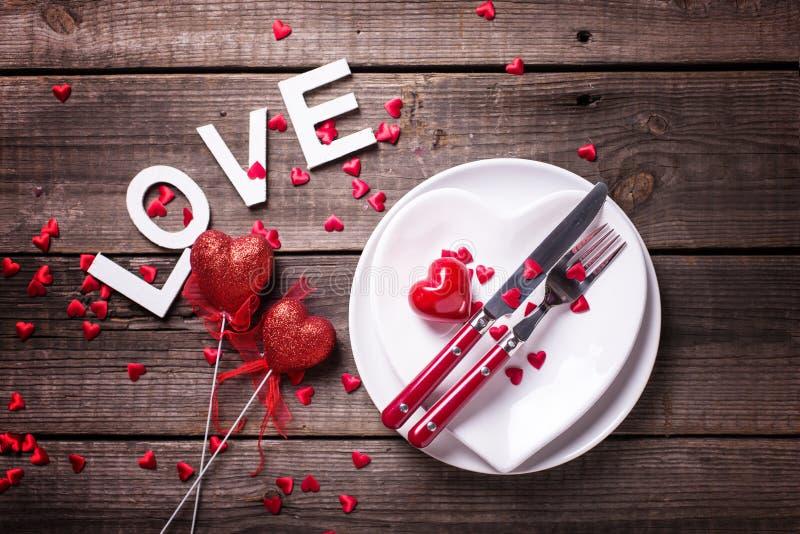 Arrangement de table de St Valentine Day photos libres de droits