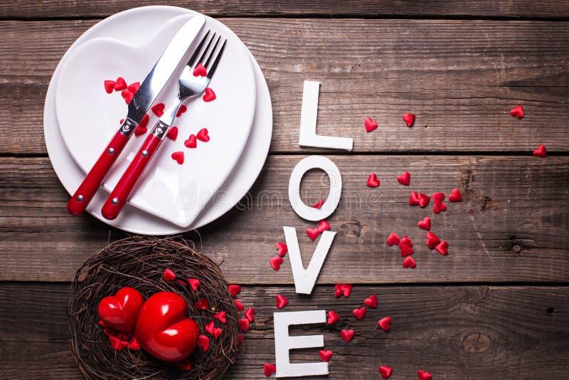 Arrangement de table de St Valentine Day image stock