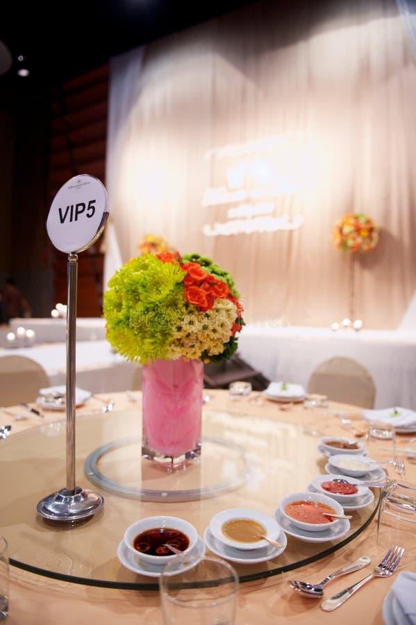 Arrangement de Tableau dans la cérémonie de mariage photo libre de droits