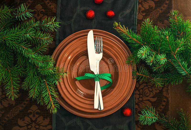 Arrangement de Tableau pour le dîner illustration stock