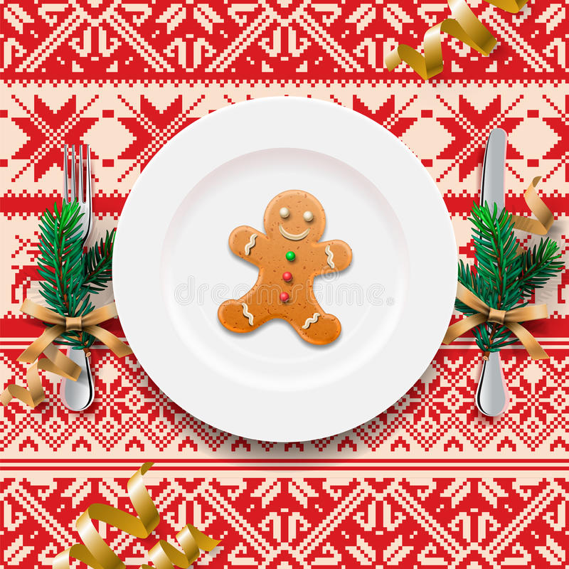 Arrangement de Tableau pour le dîner de Noël illustration libre de droits