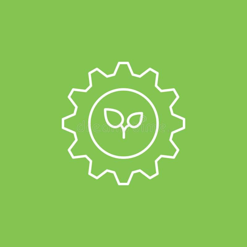 Arrangement, eco, icône d'usines - vecteur Illustration simple d'?l?ment de concept d'UI Arrangement, eco, icône d'usines - vecte illustration stock