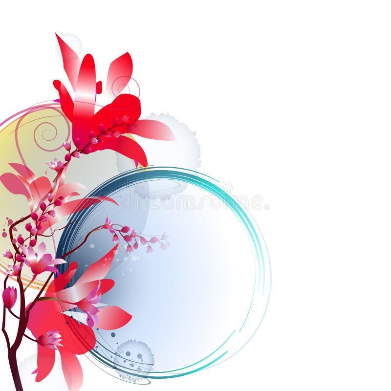 Arrangement floral lumineux illustration de vecteur