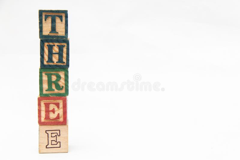 The arrangement of letters forms one word, version 144 stock photography
