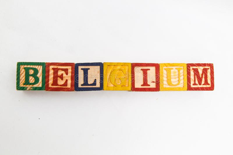 The arrangement of letters forms one word, version 120 stock photography