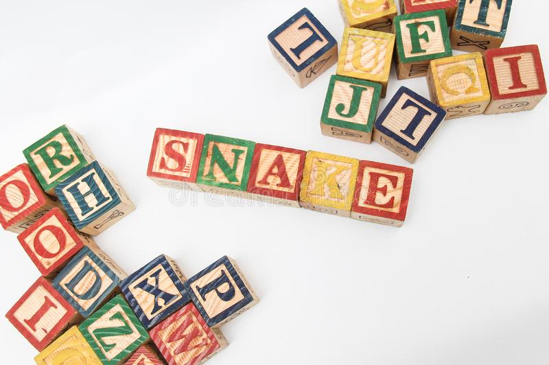 The arrangement of letters forms one word, version 121 stock photography