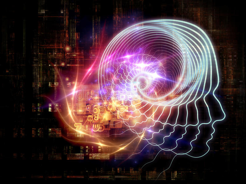 Emergence of Artificial Intelligence stock illustration