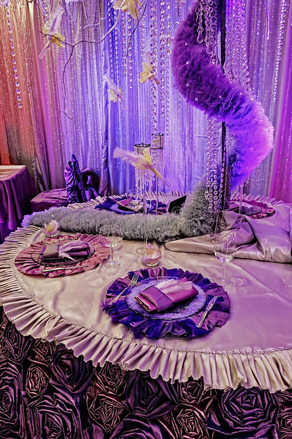 Download Arrangement For The Wedding Dinner Party-8 Stock Image - Image: 28696115