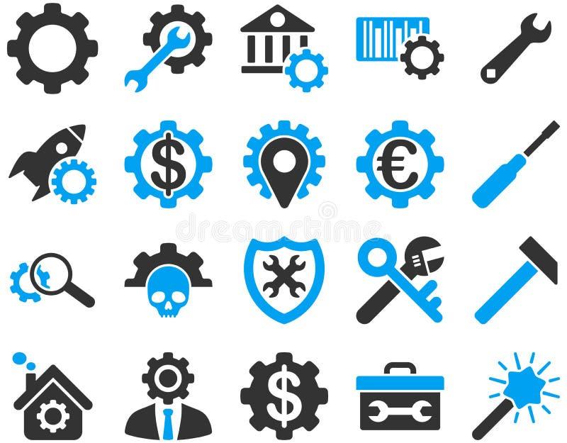 Arrangements et icônes d'outils illustration libre de droits
