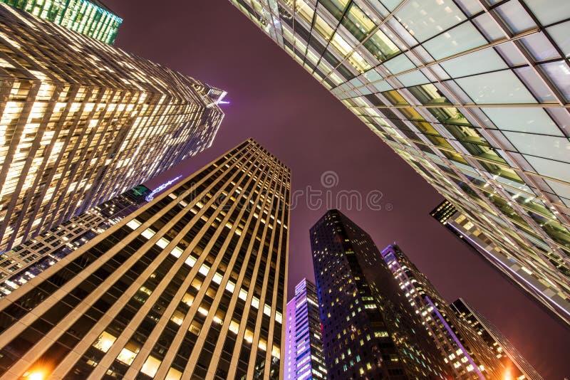 Arranha-céus altos durante fotografia de stock royalty free
