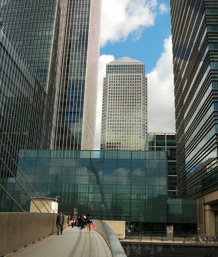 Arranha-céus de Canary Wharf fotos de stock