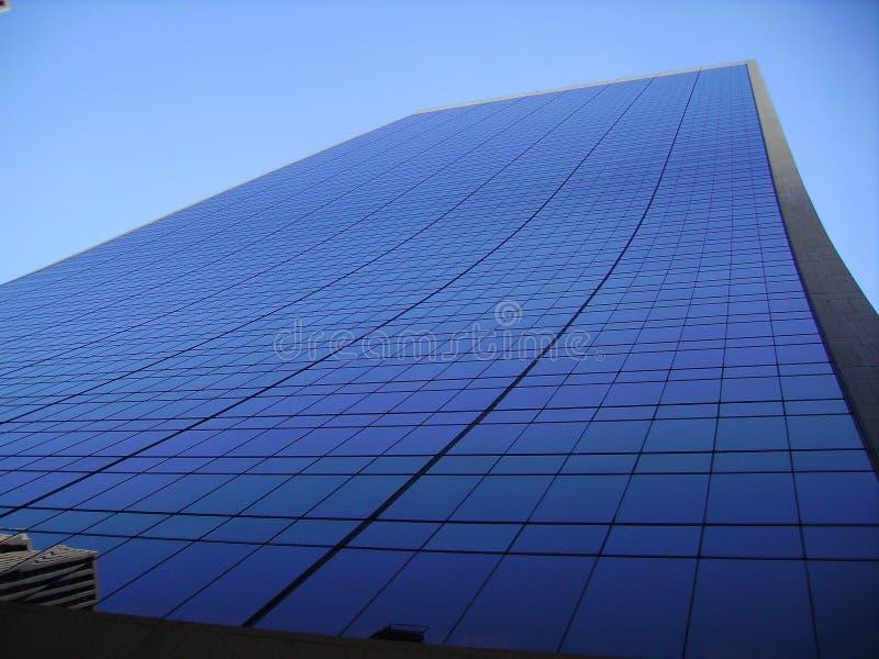 Arranha-céus azul, New York, EUA foto de stock royalty free