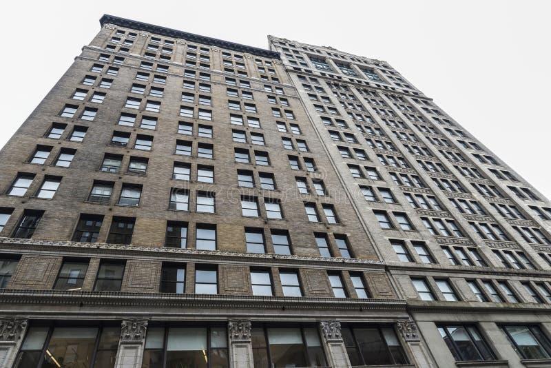 Arranha-céus clássico velho em New York City, EUA imagem de stock royalty free