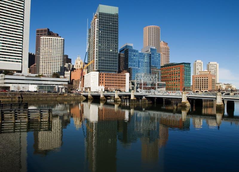 Arranha-céus da baixa de Boston fotografia de stock