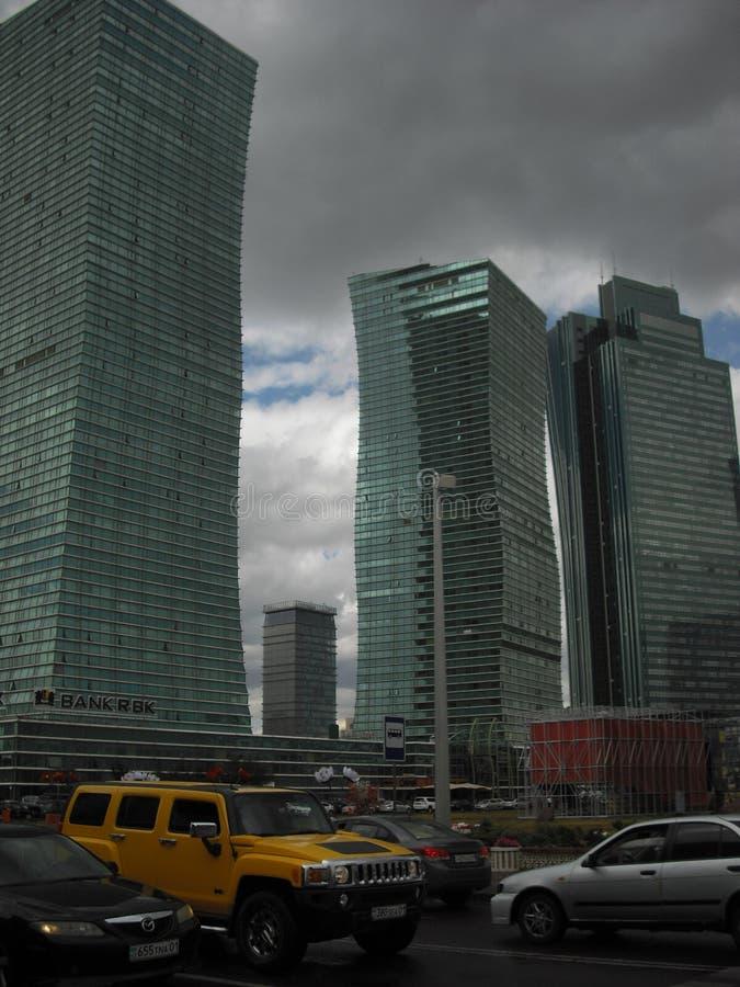 Arranha-céus da capital de Cazaquistão Astana imagens de stock royalty free