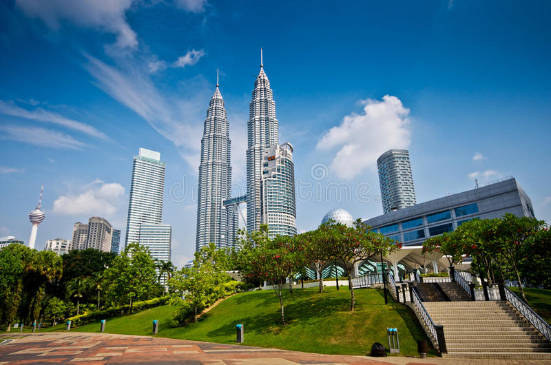 Arranha-céus de Kuala Lumpur imagem de stock royalty free