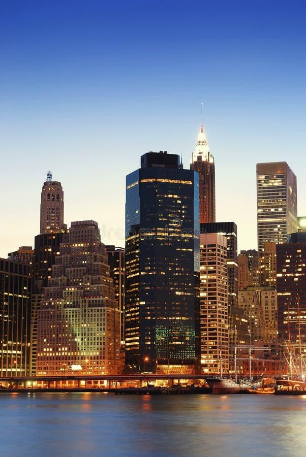 Arranha-céus de Manhattan em New York City fotografia de stock
