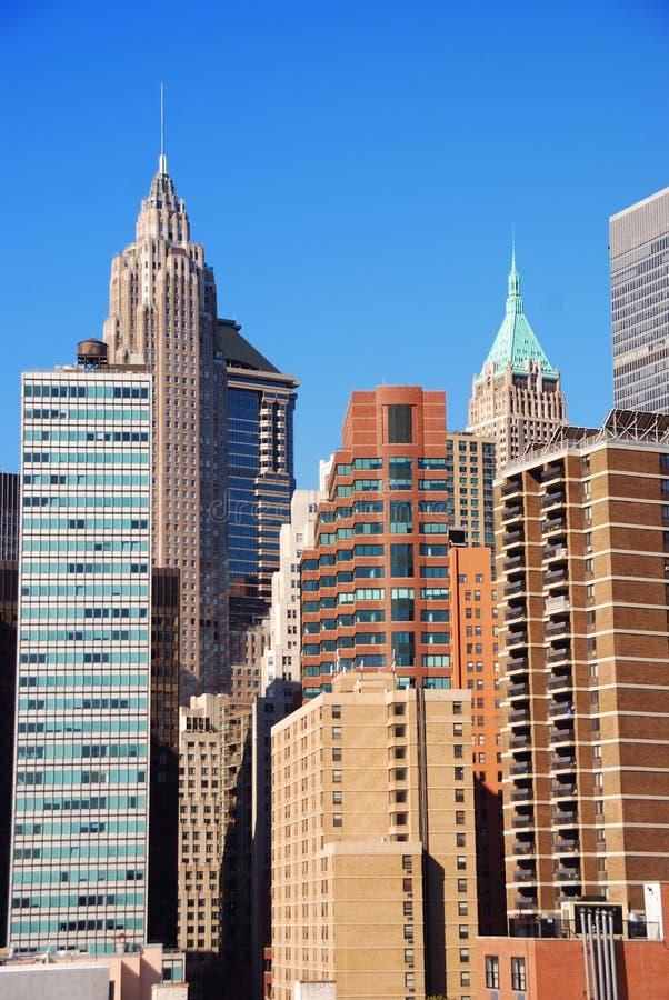 Arranha-céus de New York City fotos de stock royalty free