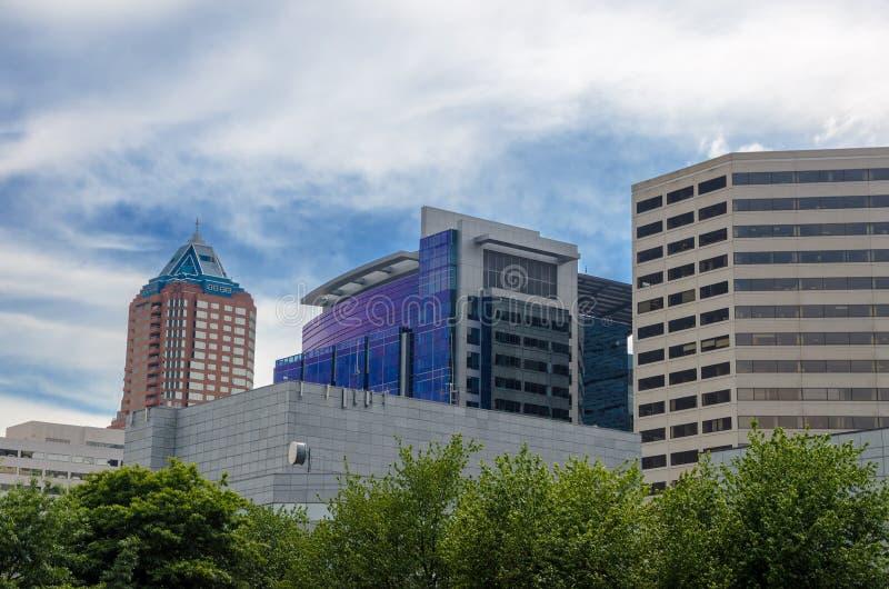 Arranha-céus de Portland fotos de stock