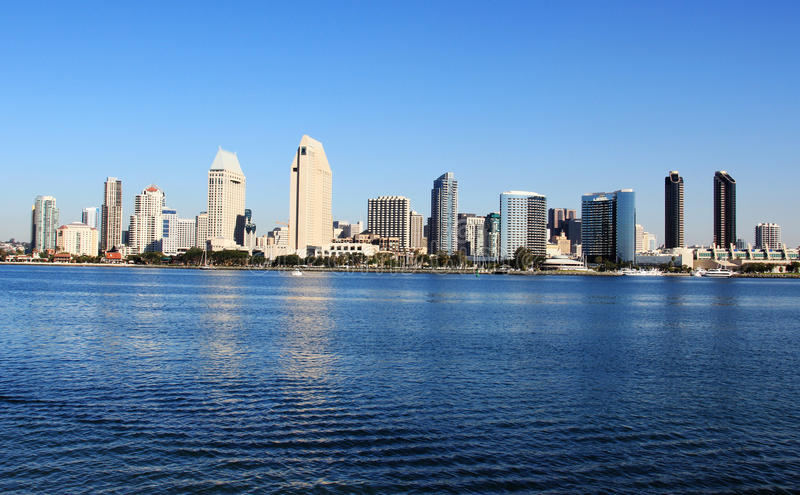 Arranha-céus de San Diego fotos de stock royalty free