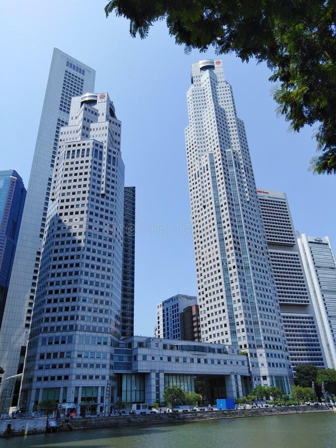 Arranha-céus de Singapura fotos de stock royalty free