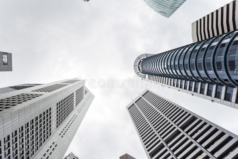 Arranha-céus de Singapura fotos de stock