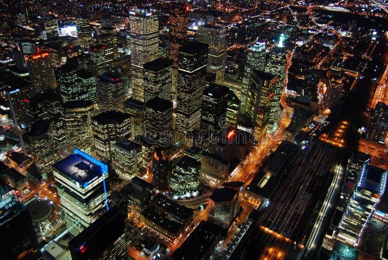 Arranha-céus de Toronto na noite fotografia de stock royalty free