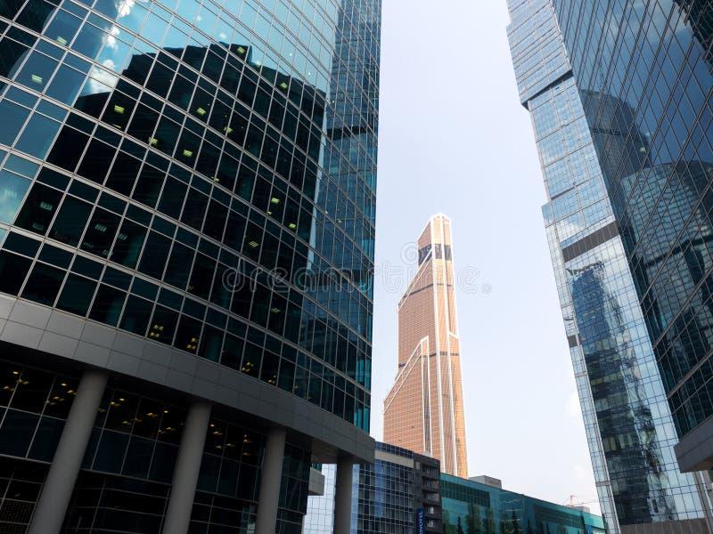 Arranha-céus do centro de negócios internacional de Moscou, Moscou, Rus fotos de stock royalty free