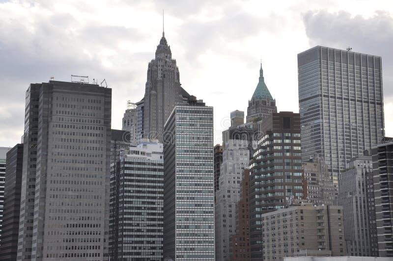 Arranha-céus do leste de Manhattan de New York City no Estados Unidos foto de stock