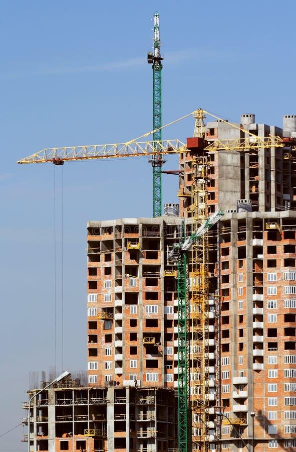 Arranha-céus dos edifícios em Kiev imagens de stock