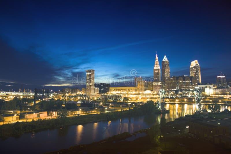 Arranha-céus em Cleveland imagens de stock