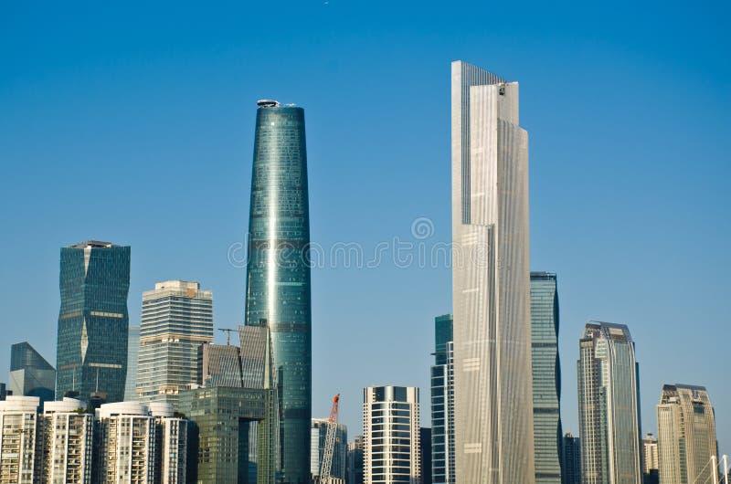 Arranha-céus em guangzhou imagens de stock