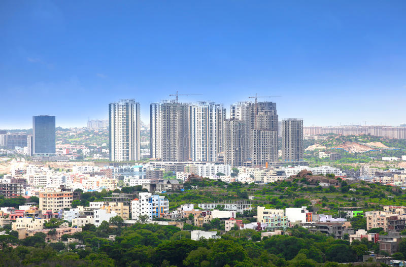 Arranha-céus em Hyderabad foto de stock royalty free